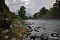 Misty Evening (Mystycat =^..^=) Tags: gavedegavarnie gave torrent rivière rochers brouillard brume fog mist saligos france hautespyrénées midipyrénées paystoy nuages ciel sky clouds arbres montagne