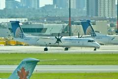 N214WQ Toronto Pearson 15 September 2016 (ACW367) Tags: n214wq dehavillandcanada dhc8q402 dash8 toronto pearson stored returnedtolessor republicairlines unitedexpress flybe