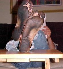Reading Paper1 (nwdcguy1) Tags: dirty feet soles