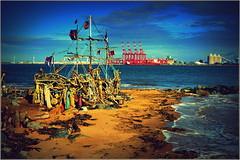 Driftwood Pirate Ship (Black Pearl) New Brighton,Wirral 16th October 2016 (Cassini2008) Tags: newbrighton wirral driftwoodpirateship theblackpearl rivermersey driftwood