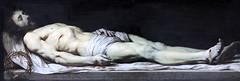 IMG_6455C Philippe de Champaigne. 1602-1674. Le Christ mort couch sur son linceul.  The dead Christ lying on his shroud. Vers 1650. Louvre. (jean louis mazieres) Tags: peintres peintures painting muse museum museo philippedechampaigne