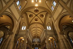 Saint Vincent's Archabbey Basilica (Lawrence OP) Tags: stvincents archabbey latrobe pennsylvania benedictine monastery organ cross ceiling