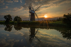 How Hill Windmill, Norfolk Broads, Norfolk (info@simonboothphotography.com) Tags: land landform landscape landscapes natural picture picturesque reflected reflecting reflections scene scenery scenes scenic scenics tourism view vista sun sunshine ray rays golden gold wind power calm tranquill tranquil postcard chocolatebox cloud clouds sail sails tree trees scrub riparian waterway water river riverine wet wetland