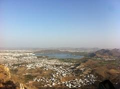 Above Udaipur, Rajasthan - India (nicklaborde) Tags: 500px udaipur inda landscape rajasthan landscapes water lake iphone iphone4