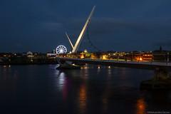 Peace Bridge, Derry (nikkara4) Tags: bridge peace derry londonderry northern ireland island modern style blue night lights rush lunapark heritage sight vitis trip travel