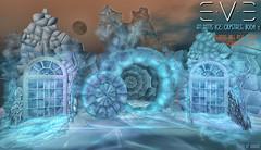 E.V.E Atlantis Ice Crystals (eve.studio (Noke Yuitza)) Tags: eve ice igloo igl frozen window fantasy winter cracked snow