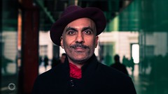 Talal [Stranger #203] (Explore 5/12/16) (iain blake) Tags: 100strangers 100 strangers london street photography portrait portraiture talal smile handsome stylish hat kuwait nikon d4 50mm ocf off camera flash