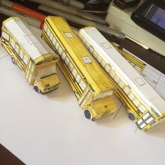 274, 29, and 380 (Etienne Luu) Tags: paper cardstock model school bus