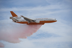 Flame Killer - Forest Fire Plane (Pete Foley) Tags: forestfire plane flameretardant nellisairforcebase nevada lasvegas pink aviationnation flickrsbest overtheexcellence