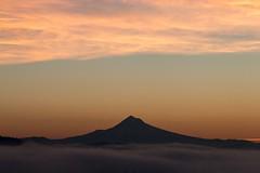 Mt Hood (RaminN) Tags: usa oregon portland cloud mountain mthood sunrise foggy