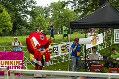 Pace Crab (Ian David Blm) Tags: pace crab baltimore 10miler druid hill park advertising finish line
