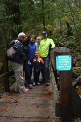 Buntzen Lake Trip 08 (SierraSunrise) Tags: bc britishcolumbia canada buntzenlake parks lowermainland bridge sign trail wooden hiking