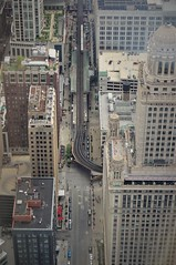 The L Turns (michael.veltman) Tags: chicago illinois wabash l train tracks from above trump tower