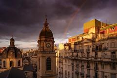 Cielos de primavera (karinavera) Tags: travel sonya7r2 urban architecture street rainbow argentina buenosaires storm sky balvanera church city