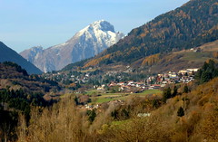 View of Borno and Pizzo Badile Camuno (annalisabianchetti) Tags: montagne mountains autumn autunno vallecamonica borno alps italy lombardia paesaggio landscape