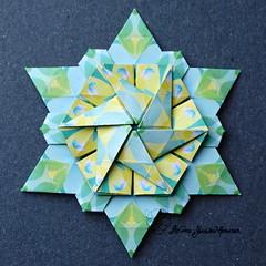 Iimori Star D (Day 37) (Yureiko) Tags: yureiko tessellation papierfalten papier origami paperfolding paper