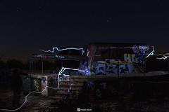 artillery (HugoSilvaDesigns) Tags: artillery weapon war graffiti abandoned night sky stars trees nature street longexposure multipleexposure canon 60d kitlens 27mm light