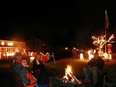 IMGP4126 Some of the folks at Frisbie circle warming up (shutterbroke) Tags: shutterbroke pentax circle wolcott ct christmas display night lights low light folks optio wg10 2016 frisbie
