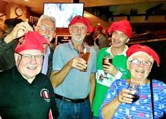 "France,  Bayonne – Roger Smith, Brian Love, Martyn Hathaway, Mike & Geraldine Norrington in Katie Daly's Irish Bar (Biffo1944) Tags: france pyrénéesatlantiques bayonne ""roger smith"" ""brian love"" ""martyn hathaway"" ""mike norrington"" ""geraldine norrington"" ""katie dalys"" ""irish bar"" ""place de la liberté"" 20161014221858"