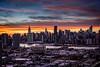 Manhattan Skyline (*ScottyO*) Tags: manhattan ny nyc newyork queens longislandcity lic america usa unitedstatesofamerica city urban buildings tower skyscraper skyline sunset evening dusk sky clouds hdr exposureblending eastriver traffic lights