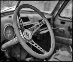 Pickup Wheel (NoJuan) Tags: steeringwheel 5d 5dclassic eos5d canon40mmf28stm bw blackwhite blackandwhite silverefexpro
