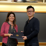 Professor Eva Pomerantz, Zezhou Gan: Honors in Psychology & James E. Spoor Scholarship recipient