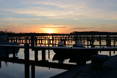 LANDING STAGES (M.KOWSKY) Tags: sunrise boat landing stages sea water boats sun clouds silhouette cold frost
