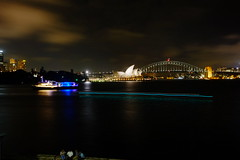 Sydney Harbour 2 (Shawn Sijnstra) Tags: sydney night light dark lighttrails harbour sydneyharbour