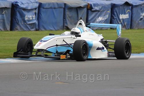 Douglas Motorsport's Akhil Rabindra in BRDC F4 at Donington Park, September 2015