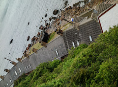 roofs (lowooley.) Tags: cliff scotland roofs burnmouth partanhall