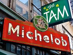 The Tam, Boston, MA (Robby Virus) Tags: irish sign boston bar neon massachusetts dive signage bud budweiser tam the michelob