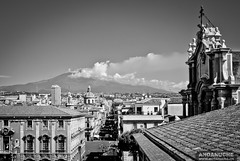 Etna Volcano from Cathedral of Catania @ Sicily (Italy)