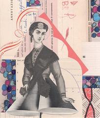hourglass (kurberry) Tags: collage victorian cutpaste vintageephemera