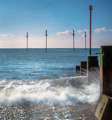 Wave (tom ballard2009) Tags: southwick beach seascape sea blue longexposure pipe groyne sussex water