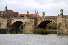 The Old Main bridge (Alte Mainbrcke) in Wrtzburg (Sokleine) Tags: bridge river germany bayern deutschland bavaria cloudy main saints statues atmosphere arches rivire pont brcke fluss allemagne sculptures wrtzburg mainbrcke bavire