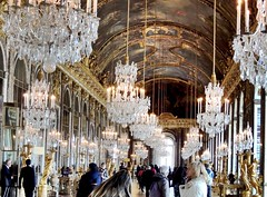 Hall of Mirrors (weesansa) Tags: light france art history french gold hall arch artistic royal mirrors chandelier versailles fancy chandeliers exquisite hallofmirrors luxury royalty jadore chteaudeversailles