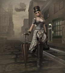 { The world of imagination is boundless... } (Trinetty Skytower) Tags: sl secondlife avatar digital virtual pose prop photography steampunk victorian historical vintage go zenith ooostudio thetreasurebox lamb babbage