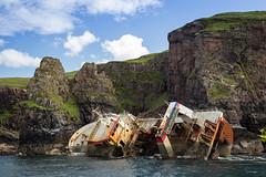 FV Jack Abry II (Scriblerus) Tags: fvjackabryii shipwreck trawler scotland rum cliffs isleofrm rm smallisles innerhebrides sea lochaber
