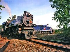 Trading Diesel for Steam: 3 (craigsanders429) Tags: ohiocentralrailroad ohiocentral1293 steamlocomotives steamtrains steamexcursions steamtrain ohiocentralsystem wheelinglakeerie wheelinglakeerierailway wlemotivepower wle3073 diesellocomotives steamanddiesel