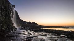 #Kimmeridge waterfall on #Dorset's #JurassicCoast (Joe Dunckley) Tags: dorset england isleofpurbeck jurassiccoast kimmeridge kimmeridgeledges purbeck uk cliff coast landscape nature sea sunset water waterfall