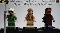 Rebel Honour Guard, Luke Skywalker (Dagobah) & Captain Panaka (Random_Panda) Tags: star wars films film movie movies tv show shows television lego figs fig figures figure minifigs minifig minifigures minifigure purist purists character characters empire strikes back the phantom menace a new hope luke skywalker dagobah yavin 4 iv rebel captain panaka