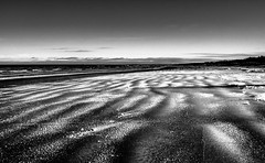 Snowy sand, winter beach (Chacky) Tags: landscape nature blackwhite bw beach sand europe larvia qinter winter black snow water beauty scape flicke ice sea ocean sky clouds canon latvia jurmala good 600d cold