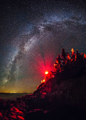 Bass Harbor Head Light (Robert Allan Clifford) Tags: acadia barharbor bassharborlight maine southwestharbor astrophotography canon coastline light lighthouse longexposure mainetheway milkyway night nightphotography ocean shore shoreline sky stars