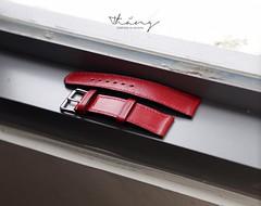 Strap for watch - red #thngleather #CraftedinSaigon #handmade #strap (ith4ng) Tags: ithang thangleathergoods saigon handmade leather