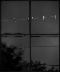 empty (dotintime) Tags: empty clothespins window pane glass gloaming dotintime meganlane