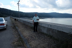 Posing beside Sioni Lake in the Kakheti region of Georgia (oldandsolo) Tags: georgia formerrussianterritory kakhetiregion sionilake sioniwaterreservoir touristspot freshwaterlake watersupply posing camwhoring selfie