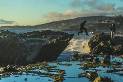 Tide Leap (Rob_Actually) Tags: sony leap jump sports extreme daredevil beach sunset tide tidepool blue reflection water reflect action a7ii alpha nature wilderness lagunabeach laguna california west coast movement portrait