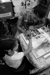 Little India (@Mathilda) Tags: henna tattoo girl bw black white celebration deepavali singapore littlegirl littleindia indian