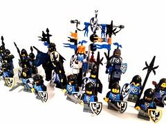 Black falcons (spaghettofil) Tags: black falcons lego castle knights custom decals stickers brickforge brick forge arms brickarms