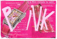 From Allen (tofuart) Tags: pink pinkweek mailart postcard postal art collage mixedmedia